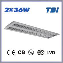 2*36w T8 recessed parabolic lighting louver