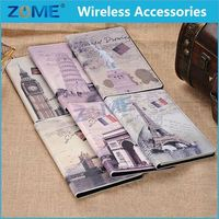Best Selling Items Phone Case For iPad Mini 1 New PU Adorable Eiffel Tower Wallet Leather Case