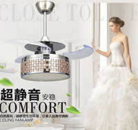 Simple Invisible Leafage Fan Lamps With Remote Control For Dinning Room /Guest Room .Most Popular and Hidden Blade.