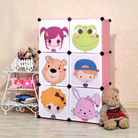 6 cubes colorful kids plastic wardrobe