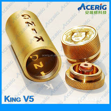 Knurled king 18650/26650mAh e cigarette with red boxes in stock