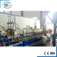 PP PE with starch additive Co-rotating parallel twin screw pelletizing extruder