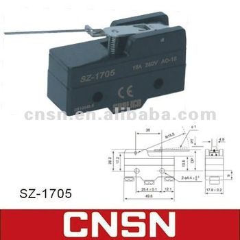 rz 15hw78 b3 110 steel wire lever micro switch snap switch view high quality micro