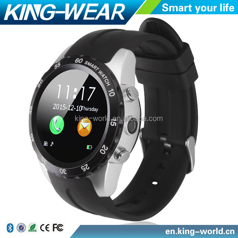Fashion Bluetooth Smart Wrist Watch Phone KW08 Heart Rate Multi-Color Frame Free Switchable Clock Face 1.22 Inch Round Display