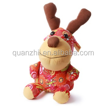Custom Christmas Plush printed deer toys for decorate
