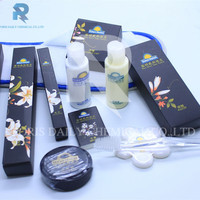 Latest design 4 stars wholesale personal care attractive hotel amenity set