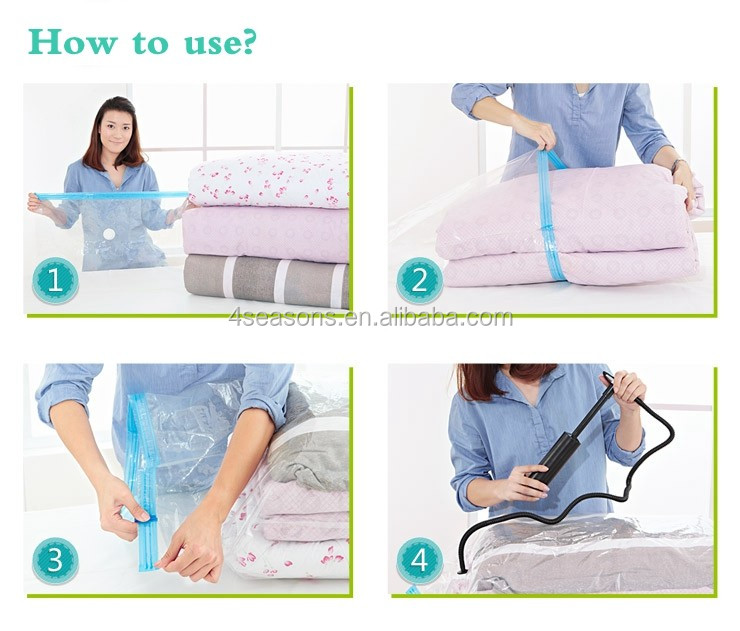 1pcs Customized plastic household storage protection bags vacuum storage bag
