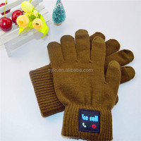 Light green bluetooth touch-screen acrylic gloves