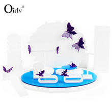 Oirlv Factory Customize Good Looking Acrylic Necklace Earring Bracelet Ring Set Exhibitor Boutique Plexiglass Jewelry Display