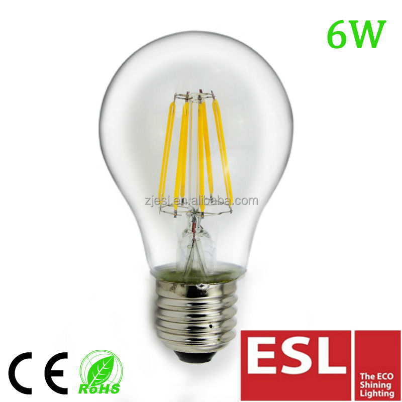 2017 new style high lumen A60 6W 110/230V 60*105mm LED <strong>bulbs</strong>