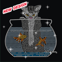 Hot fix cat Rhinestone H 2 (60)