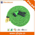 Hose Bros 50ft Green Expandable Garden Hose - Strongest Double Latex Brass Valve Fitting Magic hose