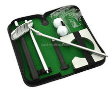 Indoor and travel golf putting practice portable putting gift set