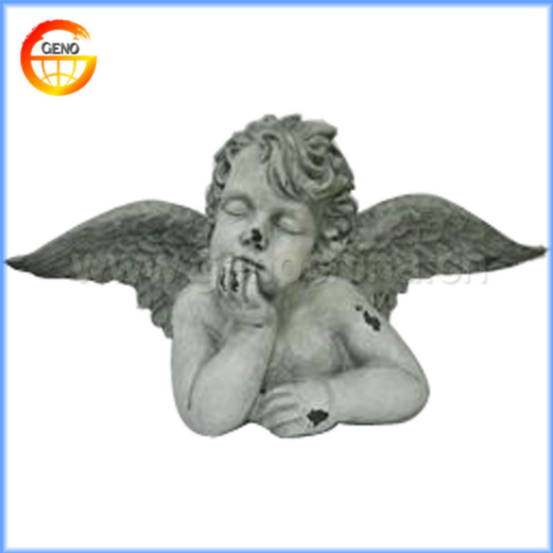 2014 hot sale little resin sleeping angels models for home decoration