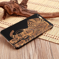 High quality black bamboo phone case for iphone6 tablet case