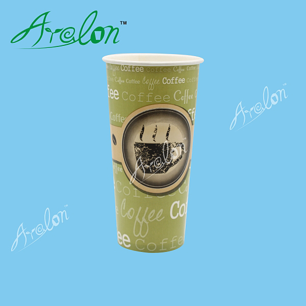 wholesale 22oz soft drink double PE coated paper cups