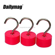 coat hook office neodymium rubber coated magnetic hook