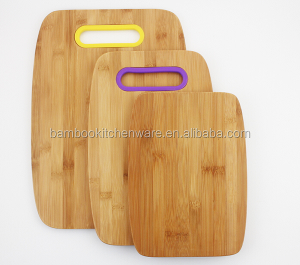 Bamboo Silicon Chopping Boards Cutting Board set of 3 pcs