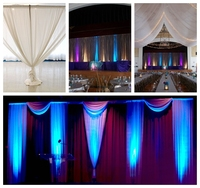 photo booth package/ wedding tent event concert pipe drape