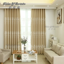 Tales of curtain classic design with white flower for bedroom blackout ready made curtain
