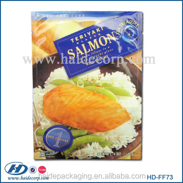 high quality nice printed fish food packaging material