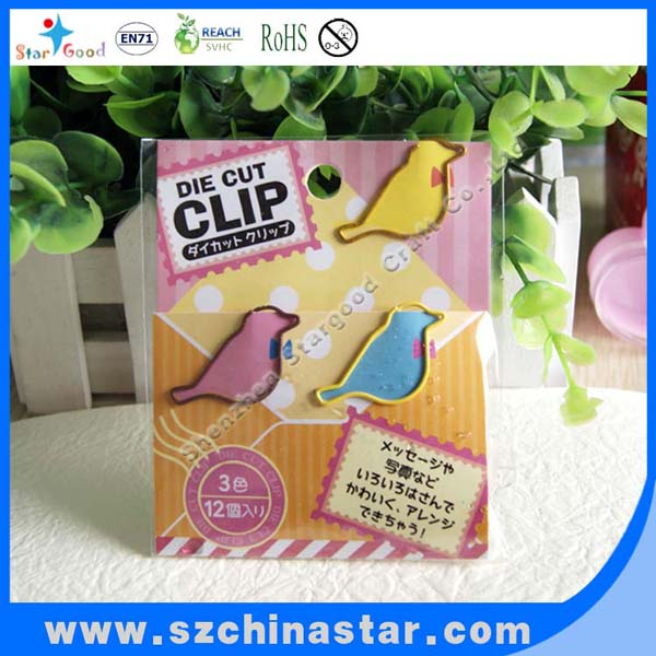 Handing different kinds of stationery fastening clips for paper