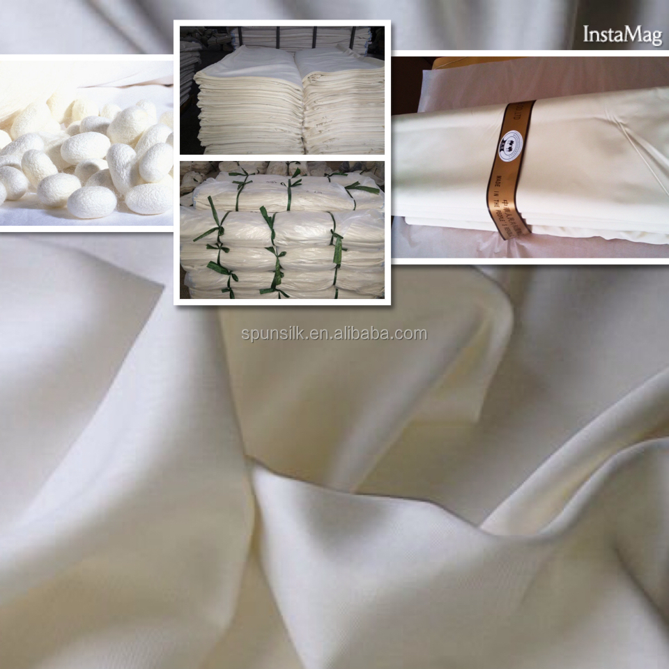 Good cooperation with SPO China spun silk fabric
