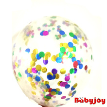 New arrival! 12-inch 3g best quality transparent confetti balloons