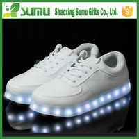 rechargeable simulation different style all white led shoes sneakers