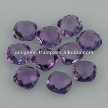 Brazilian Amethyst custom deep blue colour purple big size gems pink amethyst oval pear heart emerald cut cushion round