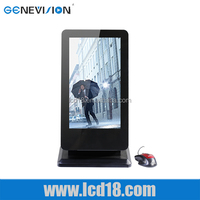 "22"" inch HD stand tv touch screen all in one pc ad player"