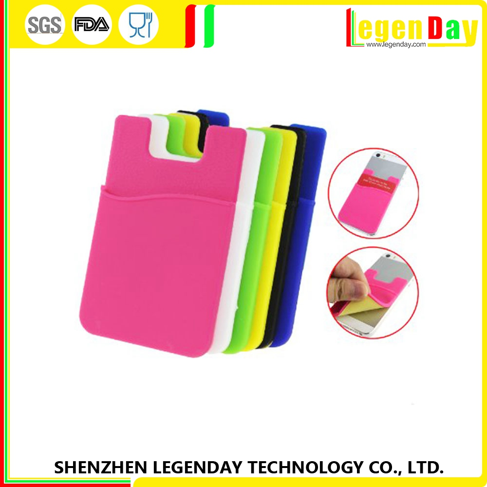 Fashionable silicone phone business card case