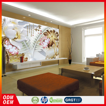 Relief mural wallpaper lotus with pure painting murals wallpaper 3D Chinese wallpaper fabric murals