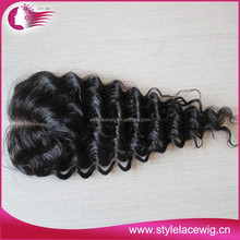 Indian hair fish net piece top closure for women