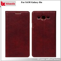 Factory Price wholesale leather back cover case for samsung galaxy on5