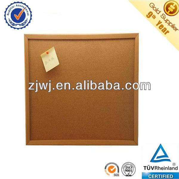 Jiangyin office wood frame cork sheet bulletin board notice cork board