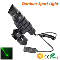 Rail Mount 532nm Laser Sight for Rifle Hunting Green Laser Flashlight