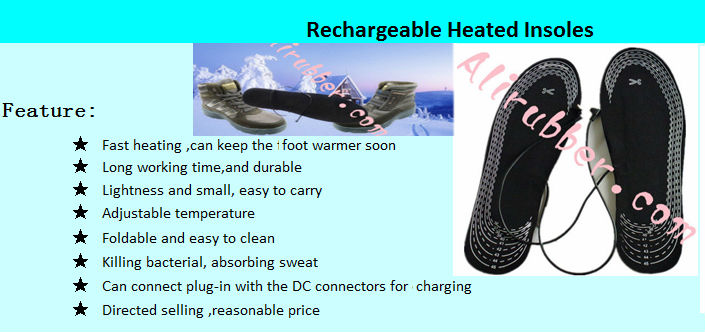 Heating Insoles with Rechargeable Battery