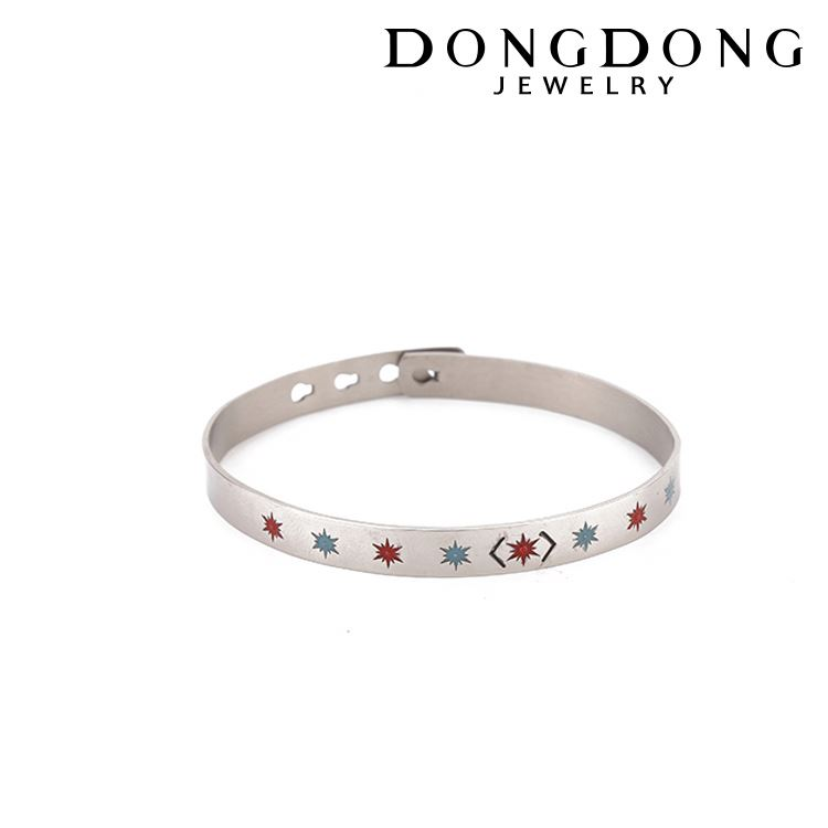 DD-B168Top selling white stainless steel bangle bracelet