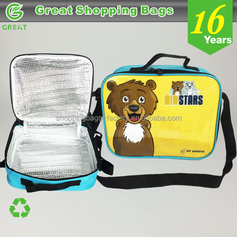 Promotional PVC Free lunch bags for kids