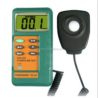 With1.5M Remove Sensor Solar power meter TM-207 free shipping Solar Radiation Detector