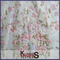 wholesale embroidered cotton voile fabric