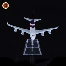 Plane Model Thailand Air Thai Airlines Airbus 380 A380 Airplane Model 16cm Metal Airways w Stand Aircraft Toy Gift