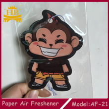 Cheap custom logo OEM hanging Paper Car Air Freshener For Car