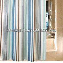 customizable waterproof polyester printing stripe Curtain design