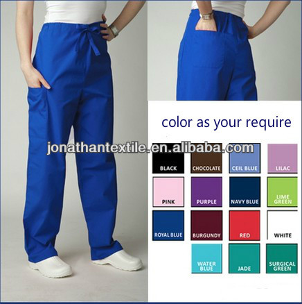 OEM! Fashion Polyester/cotton hospital scrubs uniforms medical pant