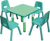 high quality pre school colorful kids study/dining adjustable square wooden table
