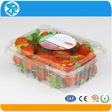 Eco-Friendly pet disposable plastic vegetable and fruit strawberry punnet salad packaging