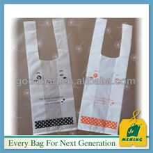 hot sale cheap plastic bag printed plastic opp bags t-shirt bags