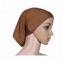 Free Shipping by DHL/FEDEX/SF can mix colors cotton tube caps hijab muslim